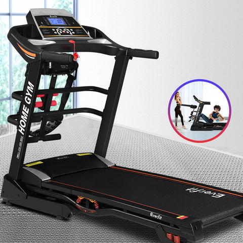 Image of Compact 18 Speed Level Electric Treadmill Auto Incline Home Gym Exercise Running Machine Fitness Fitness At Home Afterpay Zip Online Store Buy Melbourne Sydney