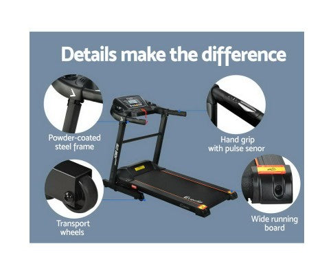 Compact And Easy To Move Electric Treadmill Fitness At