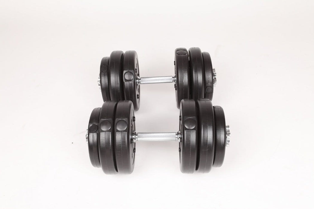 Adjustable Dumbbell Set 30kgs $78.00 AUD Fitness At Home Afterpay Zip