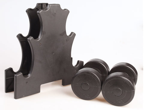 Black Vinyl Dumbbell Weight Set - 12KG