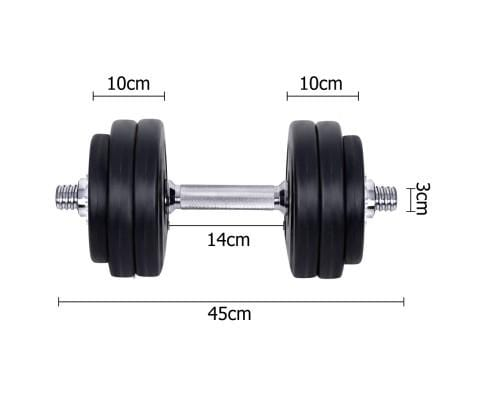 Everfit Home Gym Fitness 30kg Dumbbell Set Afterpay Buy Now Australia Fitness at  home