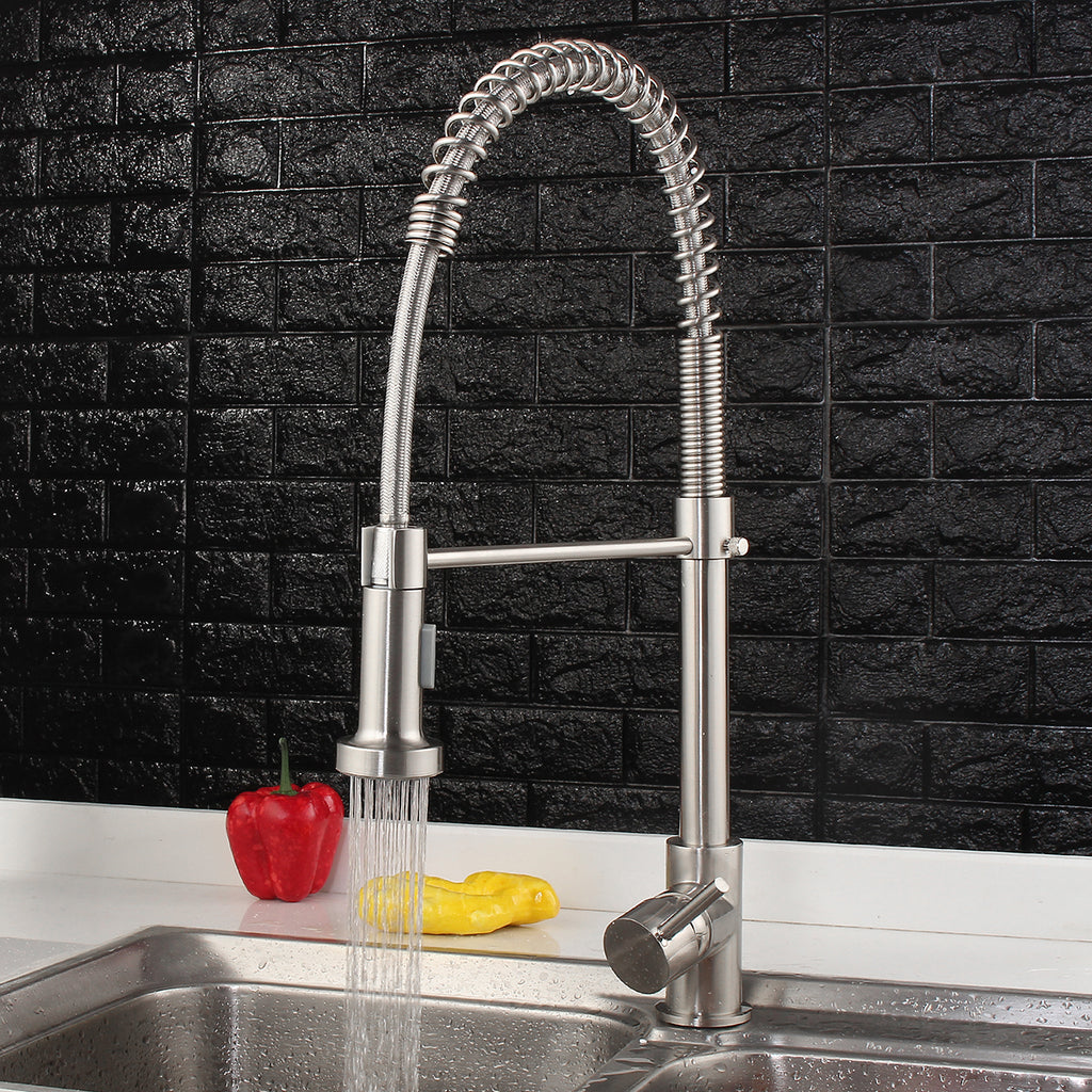 Modern Mixer Single Lever Pull Out Spray Kitchen Faucet