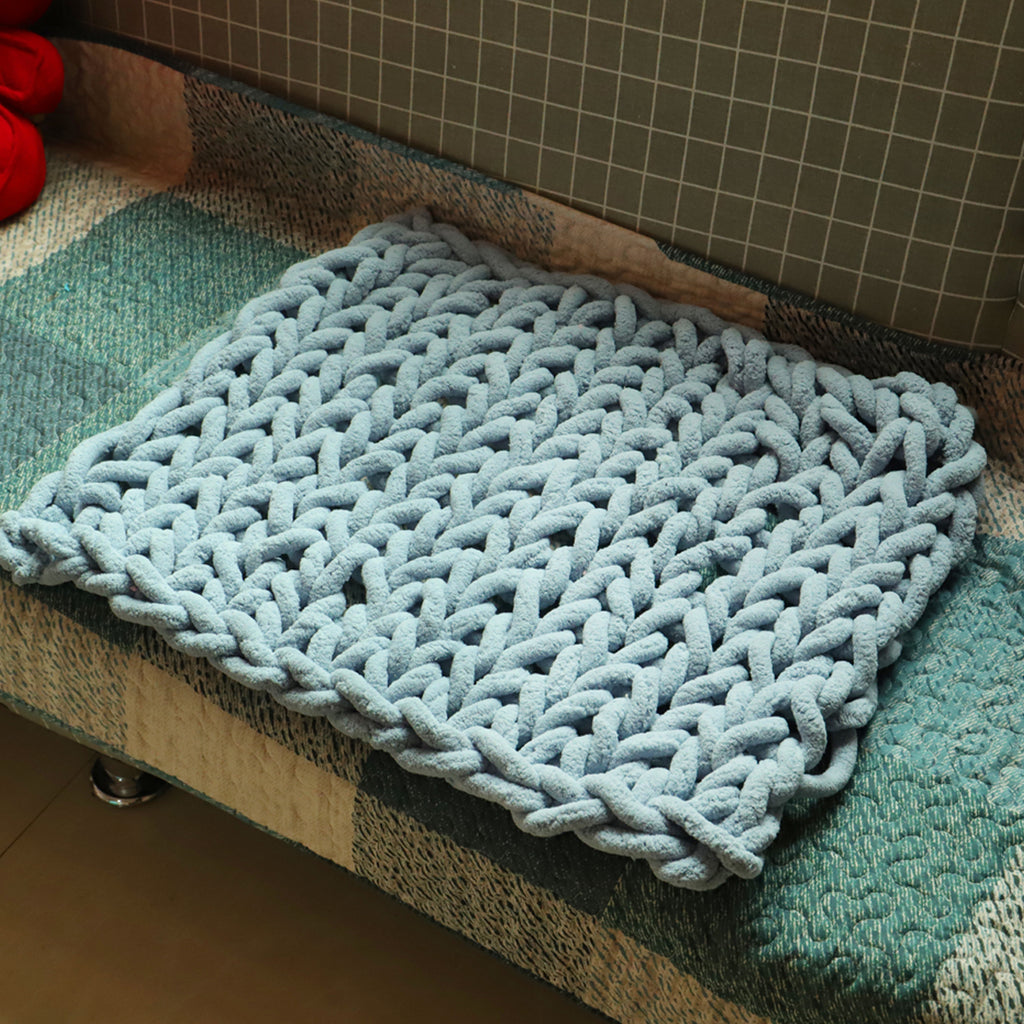 80 x 100cm Handmade Knitted Cotton Soft Washable Lint-free Throw Blankets