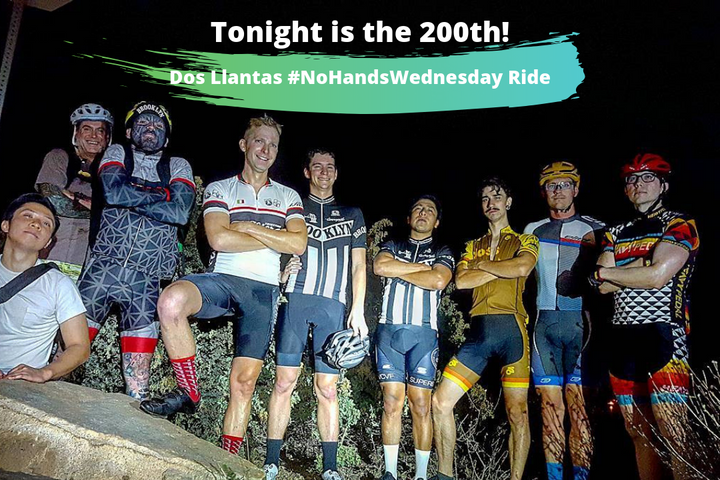 Tonight is the 200th #NoHandsWednesday Ride