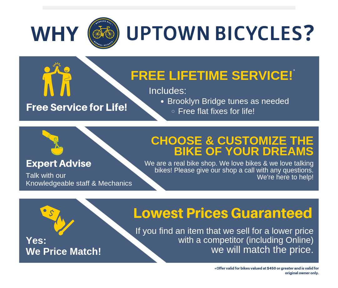 Why Buy From Uptown Bicycles?