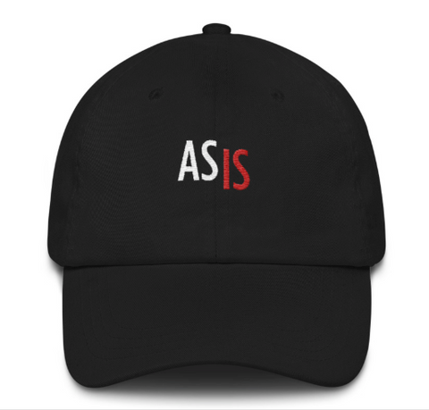 As Is Embroidered Soft Cap