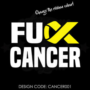 FUCK CANCER (RIBBON CK) - CANCER001