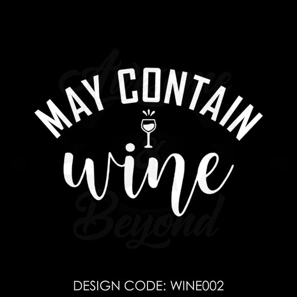 MAY CONTAIN WINE - WINE002