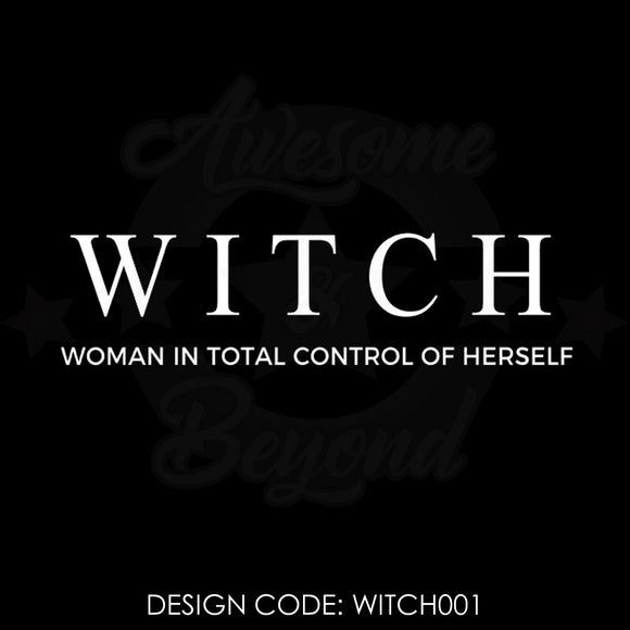 witch woman in total control of herself