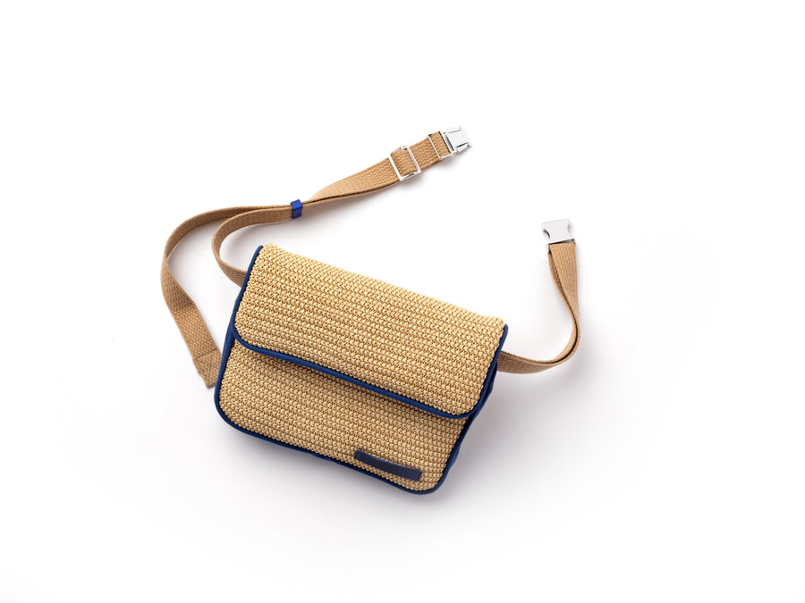 Belt Bag   Capri   Krnach  Eco  Fashion  Sustainable  Raffia  Summer  Beige  Bag