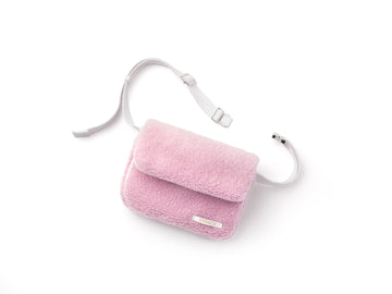 Krnach  Belt Bag  St. Moritz Pink Fleece   Eco  Sustainable  Upcycled Fashion Bag