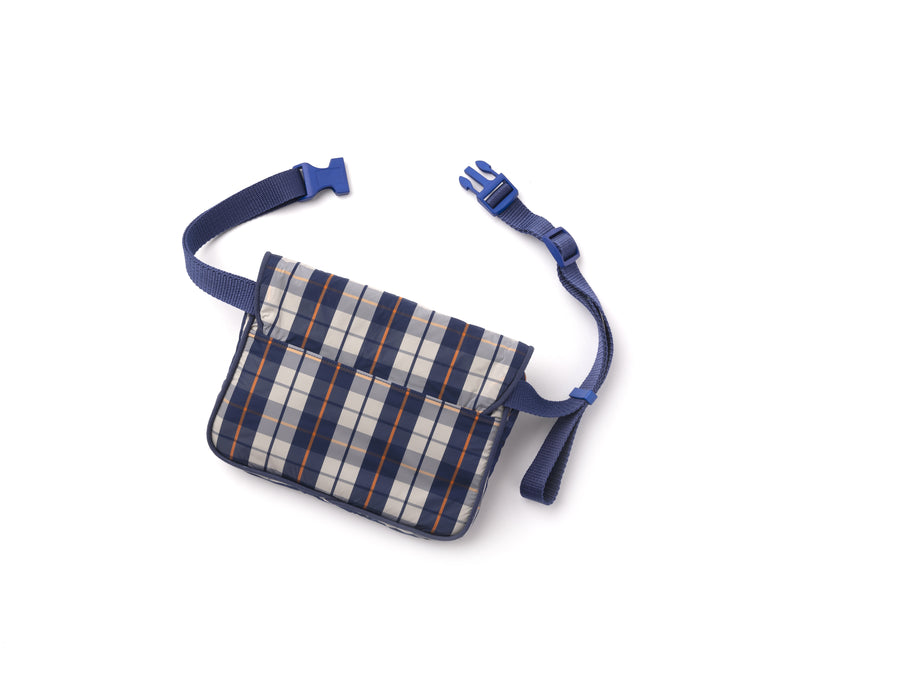 Krnach  Belt Bag  San Remo Nylon  Plaid Jacquard   Eco  Sustainable  Upcycled Fashion Bag