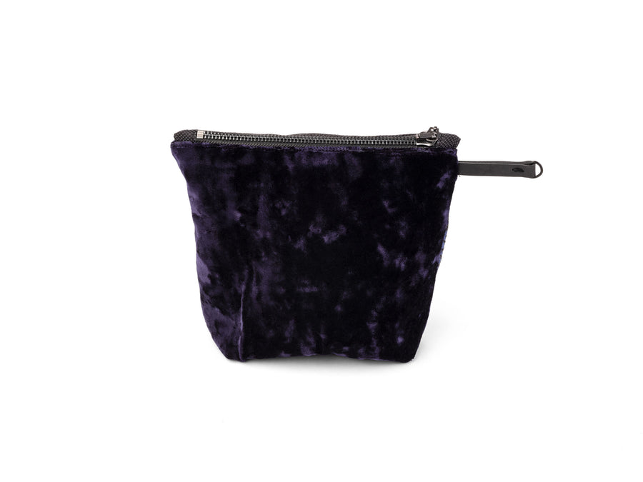 Krnach  Extra Large Zip Pouch  Tehran Crushed Velvet Nylon Jacquard   Eco  Sustainable  Upcycled Fashion Accessory
