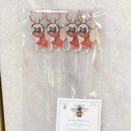 Acrylic Stir Sticks, Pugs