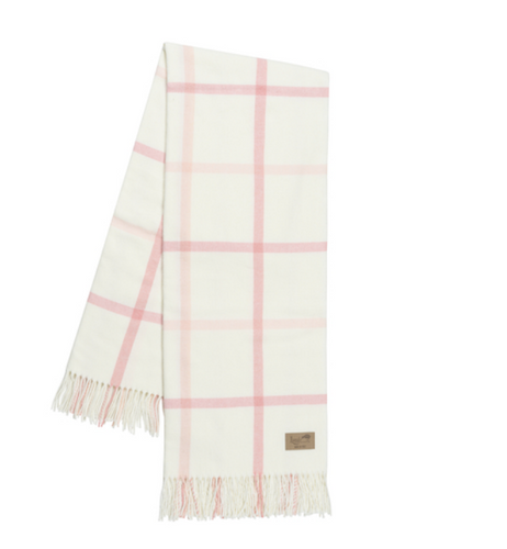 Blush and Pink Salt Tattersall Plaid Throw