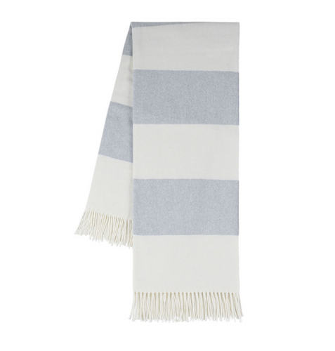 Hydrangea Rugby Stripe Throw