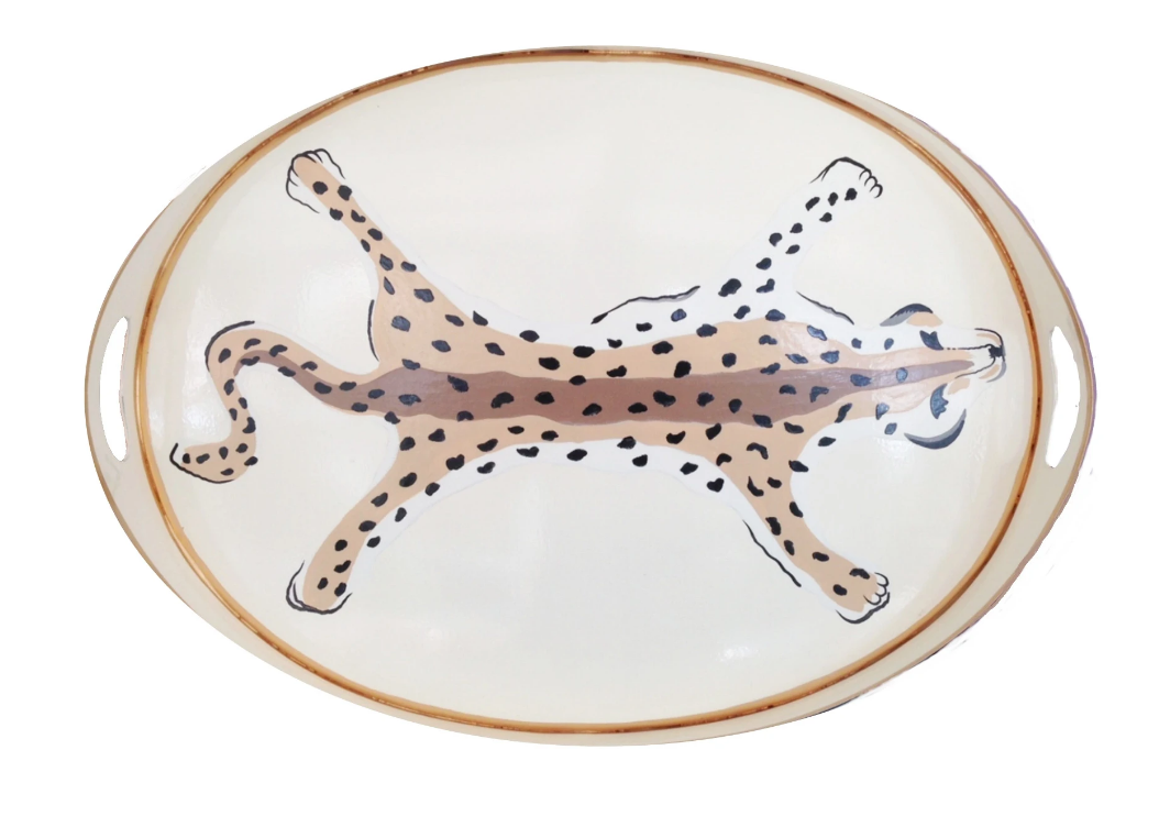 Leopard Oval Tray (2 Colors)