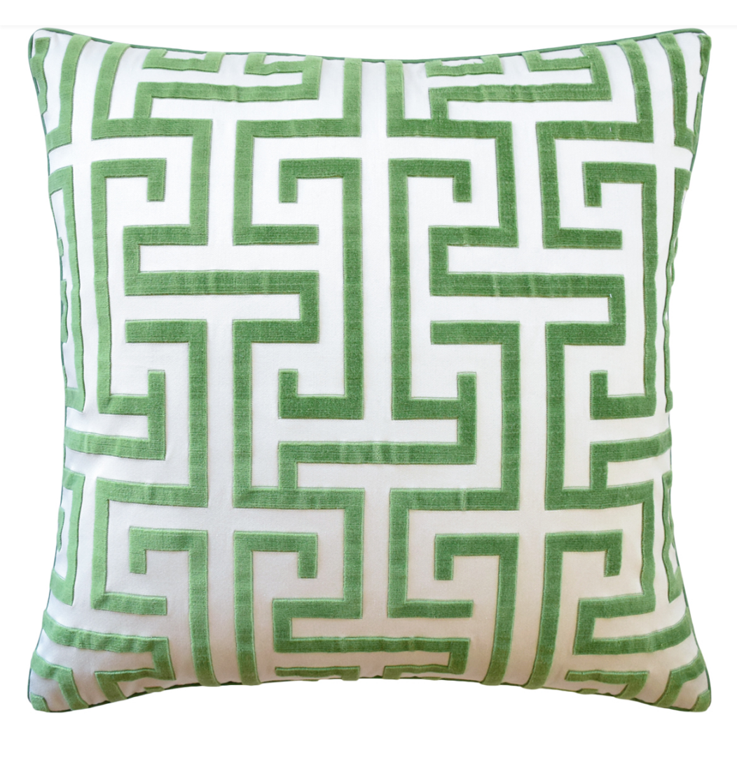 Pillow, Ming Trail (Green)