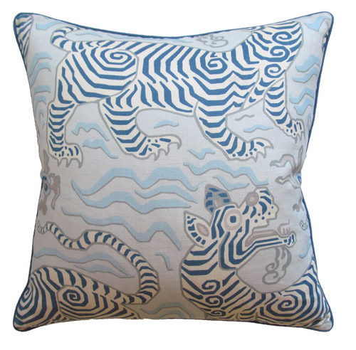 Pillow, Tibet (Pale Blue)