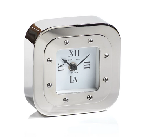 Nickel Table Clock, Small
