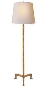 Parish Floor Lamp, Gilded Iron with Natural Paper Shade
