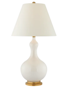 Addison Medium Table Lamp, Ivory with Natural Paper Shade