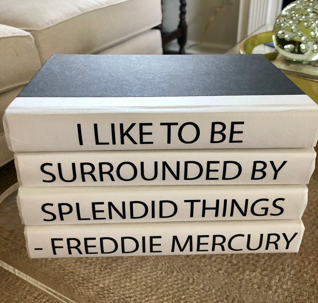 Decorative Books- Freddie Mercury