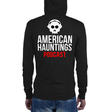 Load image into Gallery viewer, American Hauntings Podcast Logo Zip Up Hoodie - American Hauntings