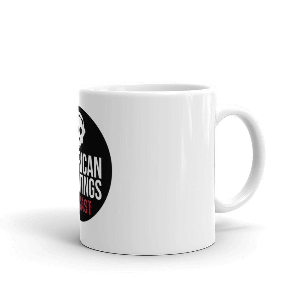 American Hauntings Podcast Logo Coffee Mug (white) - American Hauntings