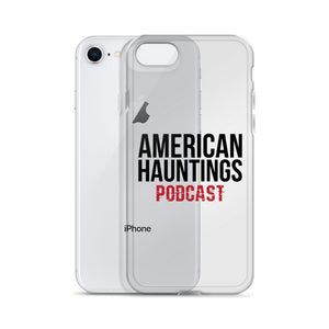 American Hauntings Podcast iPhone Case (black lettering) - American Hauntings