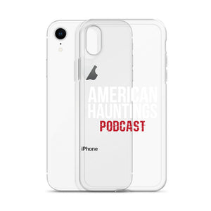 American Hauntings Podcast iPhone Case (white lettering) - American Hauntings