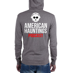 American Hauntings Podcast Logo Zip Up Hoodie - American Hauntings