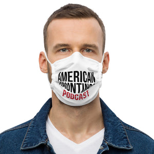 Podcast Logo Text Face mask