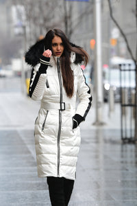 Popular Toronto Model Wearing Designer Winter Jacket from Infinia Appparel