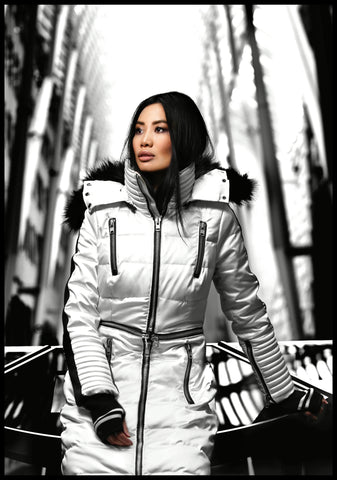 Our Model Looking Stylish in Modular Designer Down Jacket From Infinia Apparel