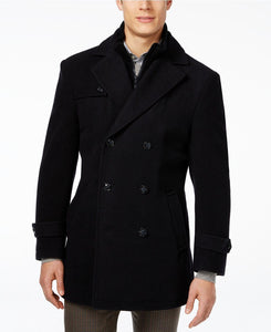 949a91758 $892 Ralph Lauren Mens Blue Wool Double Breast Peacoat Overcoat Coat Winter  44S
