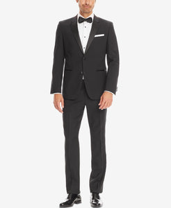 7613d19c8 $1755 Hugo Boss Men Slim Fit Suit Black Tuxedo 2 Piece Jacket Pants 40R