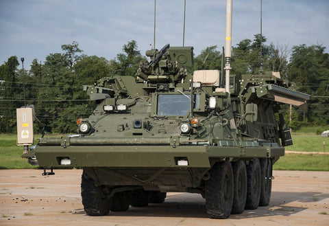 Artis Iron Curtain APS Active Protection System mounted on a Stryker 8x8 armored vehicle (Picture source Artis Company) ufo gear store
