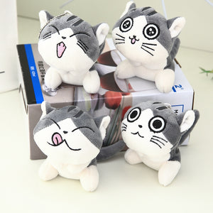 plush cat anime keychains
