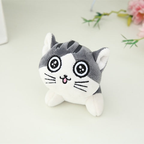 Image of plush cat anime keychains
