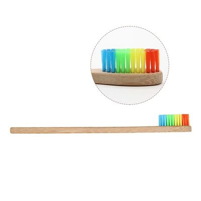 Image of Family Friendly Rainbow Bamboo Toothbrush and Teether