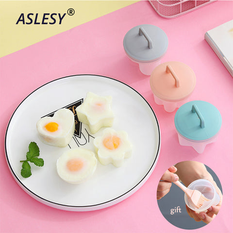 Image of 4Pcs/Set Egg Boiler Cooker Mold Non-stick Cup Eggs Poacher Pancake Maker Cooking Tools Form for Fried Kitchen Baking Accessories