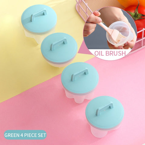 4Pcs/Set Egg Boiler Cooker Mold Non-stick Cup Eggs Poacher Pancake Maker Cooking Tools Form for Fried Kitchen Baking Accessories