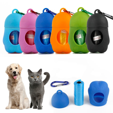 Image of cat and dog clean up bags and carrier