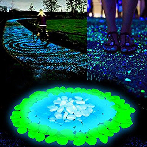 20/50/100pcs Glow in the Dark Garden Pebbles