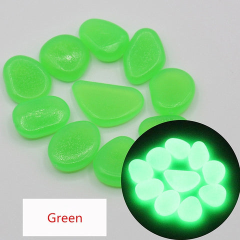 Image of 20/50/100pcs Glow in the Dark Garden Pebbles