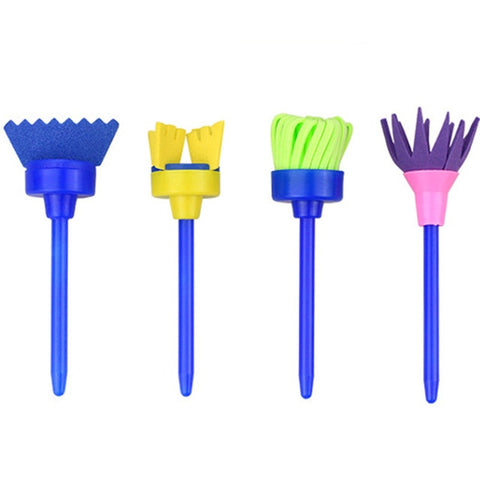Image of Paint Brush 4 Piece Set for Kids