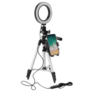 Mini Tripod with Phone and Light Ring 5.7inches