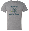 "Next Level Apparel Grey ""ChromaDex Atoms"" T-shirt"