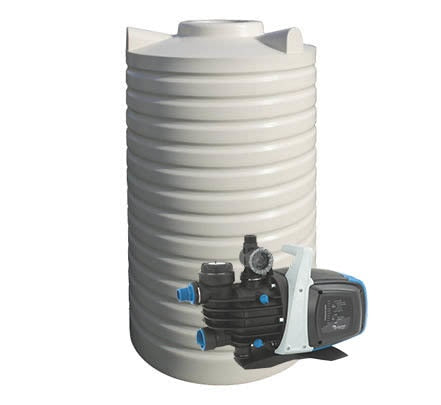 2000L Poly Water Tank & Pump Package